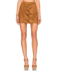 Lucca Couture Suede Skirt