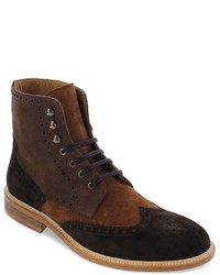 Bloomingdale's Modern Fiction Knox Medallion Wingtip Boots