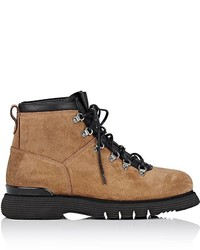 Franceschetti Shearling Lined Suede Hiking Boots