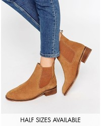 Tobacco Suede Chelsea Boots