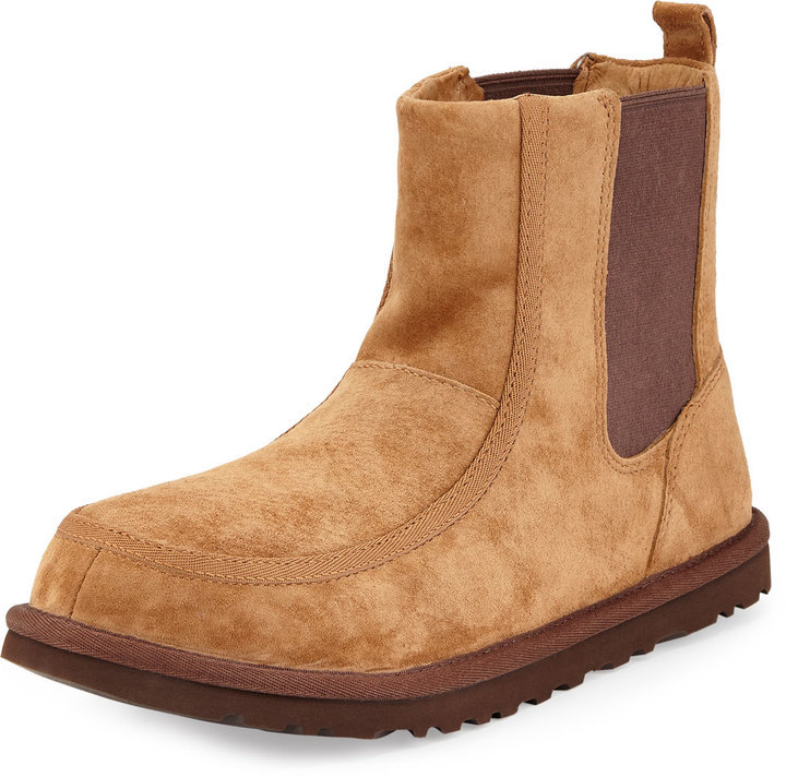 6d586b84168f ... Neiman Marcus › UGG › Tobacco Suede Chelsea Boots UGG Bloke Ii Suede  Chelsea Boot Chestnut ...