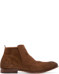 Brown suede lennox chelsea boots medium 446691