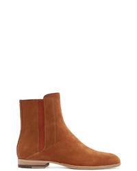 Maison Margiela Camel Suede Chelsea Boots
