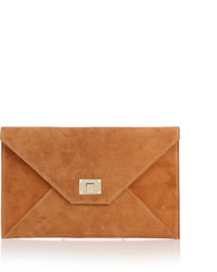 Rosetta tan suede clutch medium 439872