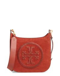 Tory Burch Ella Stitch Leather Crossbody Bag
