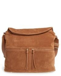 Suede crossbody bag brown medium 518335