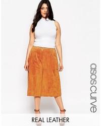 Asos Curve Premium Culottes In Suede
