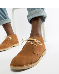 ASOS DESIGN Wide Fit Desert Boots In Tan Suede