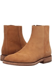 Tobacco Suede Dress Boots