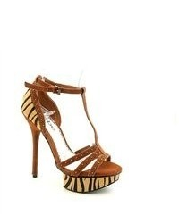 Tobacco Suede Heeled Sandals