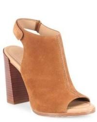 Michael Kors Michl Kors Collection Mve Suede Block Heel Slingback Sandals