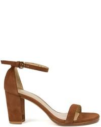 Stuart weitzman nearlynude block heel sandals medium 519000