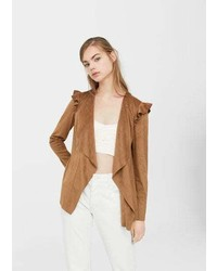Waterfall faux suede jacket medium 3765536