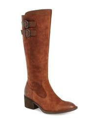 d41e75850f3 Tobacco Suede Knee High Boots for Women