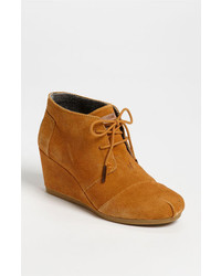 Tobacco Suede Lace-up Ankle Boots