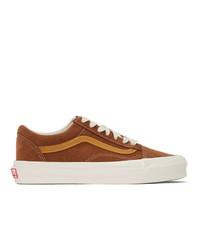 Vans Brown And Tan Og Old Skool Lx Sneakers