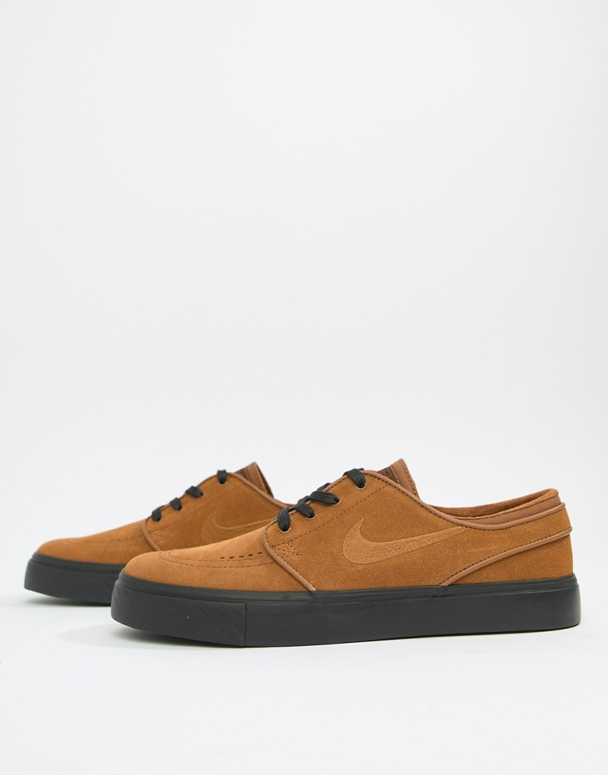 Visible almohada ranura  Nike SB Zoom Stefan Janoski Suede Trainers In Brown 333824 218, $83 | Asos  | Lookastic