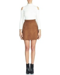 1 STATE 1state Faux Suede A Line Miniskirt