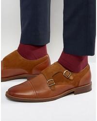 Aldo Ellmore Leather Suede Mix Monk Shoes