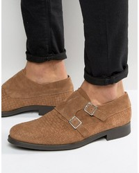 Selected Homme Oliver Woven Suede Monk Shoes