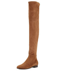 Jimmy Choo Myren Stretch Suede Over The Knee Boot Khaki Brown