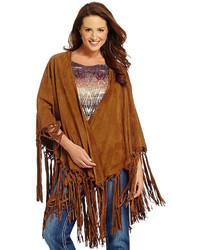 Reba fringed suede cape cardigan medium 344729