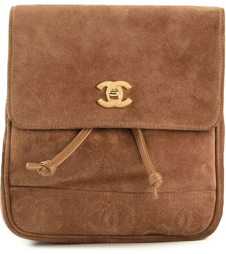dd9f6ec314c2 Chanel Vintage Small Backpack, $2,683 | farfetch.com | Lookastic.com