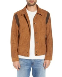 Tobacco Suede Shirt Jacket