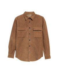 President'S Vespa Suede Button Up Shirt
