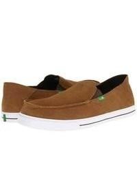 Sanuk Baseline Suede Slip On Shoes