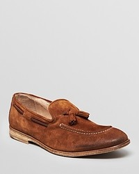 Tobacco Suede Tassel Loafers