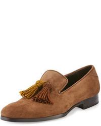 Foxley autumn suede tassel loafer khaki medium 729518