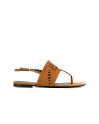 Ermanno Scervino Whipstitch Sandals