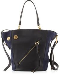 Chloé Chloe Myer Medium Leather Suede Tote Bag