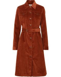 MM6 MAISON MARGIELA Cotton Blend Corduroy Trench Coat