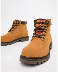 Levi's Hodges Leather Boot In Light Brown