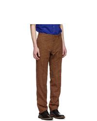 Dries Van Noten Black And Orange Slim Kline Suit