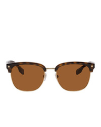 Burberry And Gold Tone Square Sunglasses
