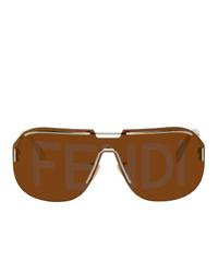 Fendi Gold Ff M0098 Aviator Sunglasses
