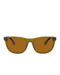 Burberry Green Stripe Sunglasses