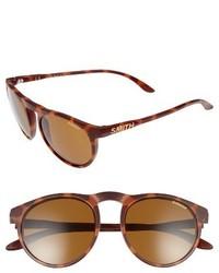 Smith Marvine 52mm Polarized Round Sunglasses Matte Tortoise