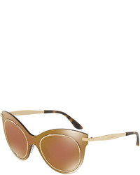 Dolce & Gabbana Mixed Media Cat Eye Sunglasses