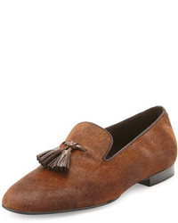 Tom Ford Chesterfield Calf Hair Tassel Loafer