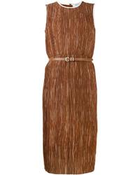 Max Mara Textured Belted Dress