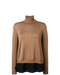 P.A.R.O.S.H. Roll Neck Contrast Sweater