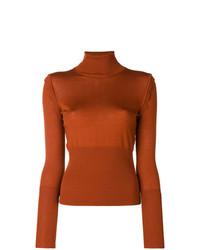 Chloé Scallop Trim Turtleneck Sweater