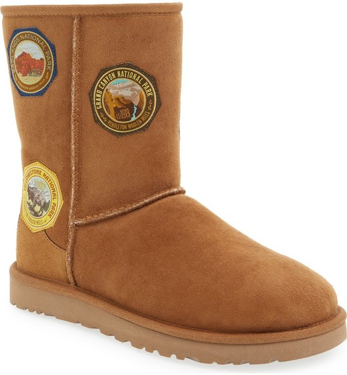 e97215fb86c $189, Ugg X Pendleton Classic Short Patch Boot