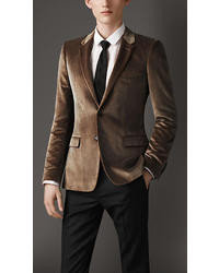 Tobacco Velvet Blazers for Men | Men's Fashion