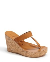 Tobacco wedge sandals original 2325543