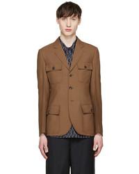 Marni Camel Wool Pocket Blazer